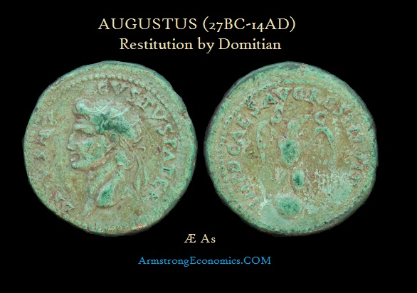 AUGUSTUS AE As by Domitian