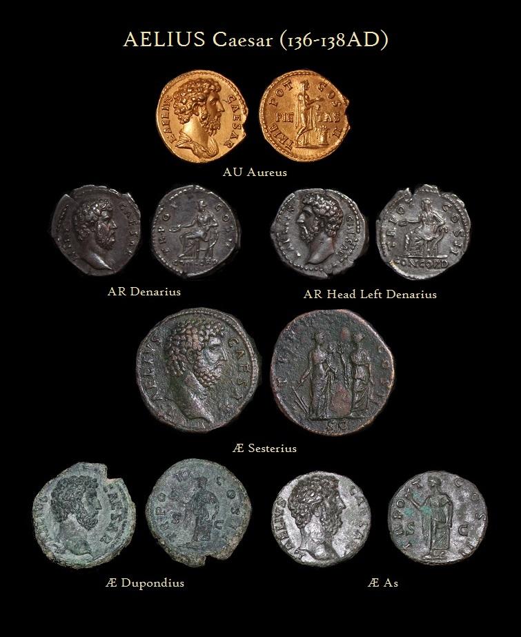 Aelius Aureus Denarius Sesterius Depondius As - R