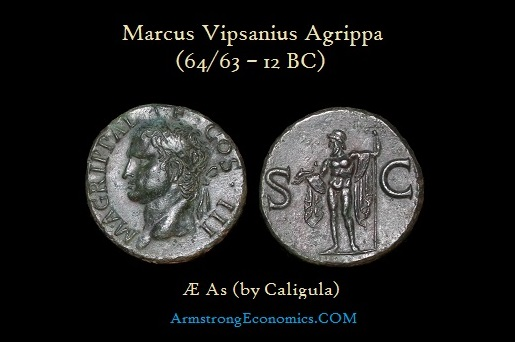 Agrippa AE As by Caligula