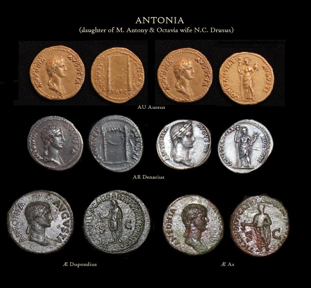 Antonia Aureus Denarius Deupondius As -R