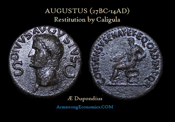 Augustus AE Dupondius by Caligula Restitution