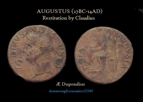 Augustus AE Dupondius by Claudius