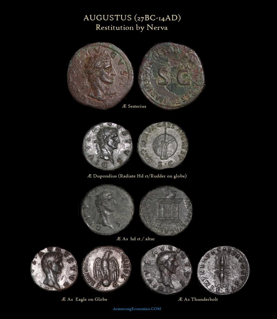 Augustus DIVI By Nerva Sesterius Dupondius As