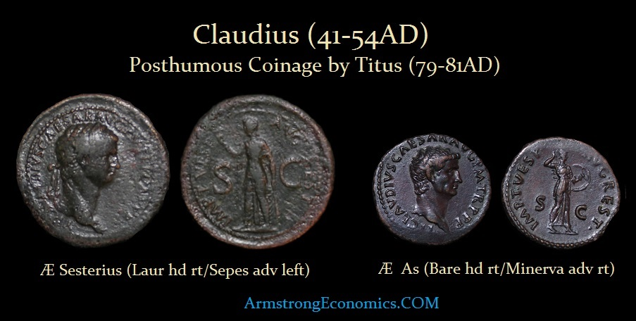 CLAUDIUS by TITUS Sesterius As