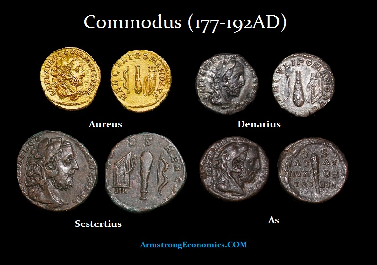 COMMODUS as HERCULES DENOMINATIONS-R