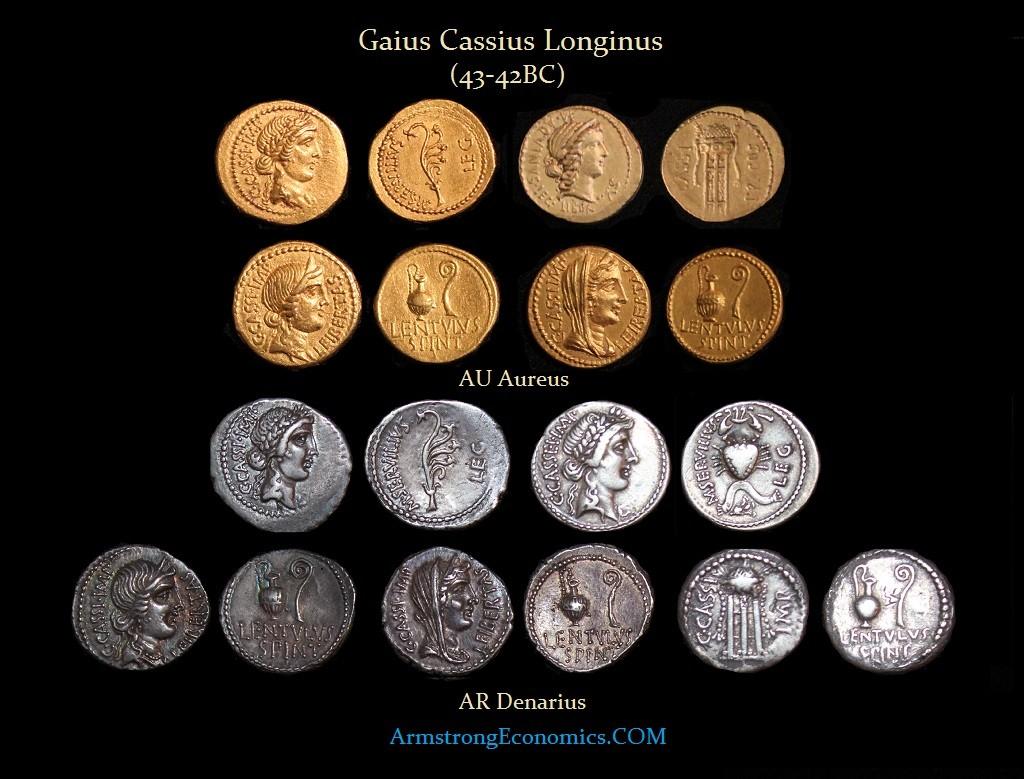 Cassius Aureus Denarius - R