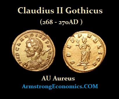 Claudius II AU Aureus
