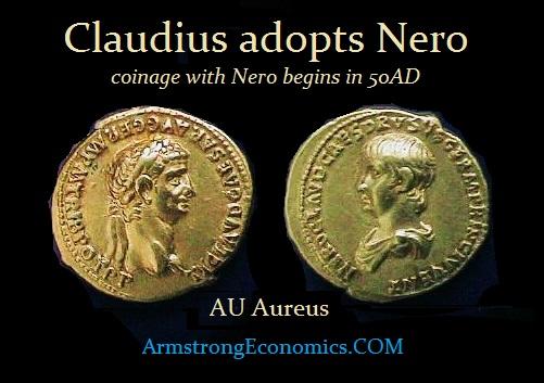 Claudius & Nero AU Aureus