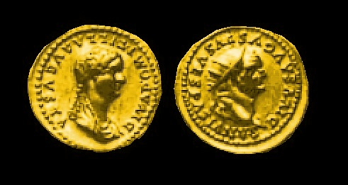 DOMITILA Aureus with Vespasian