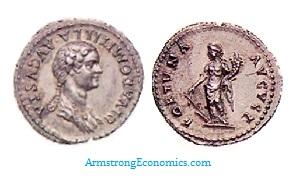 DOMITILA Denarius by Domitian