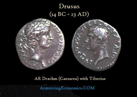 Drusus AR Drachm - R