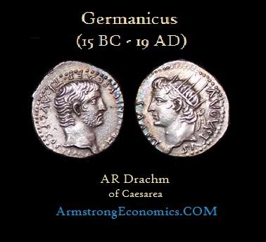 Germanicus AR Drachm of Caesarea