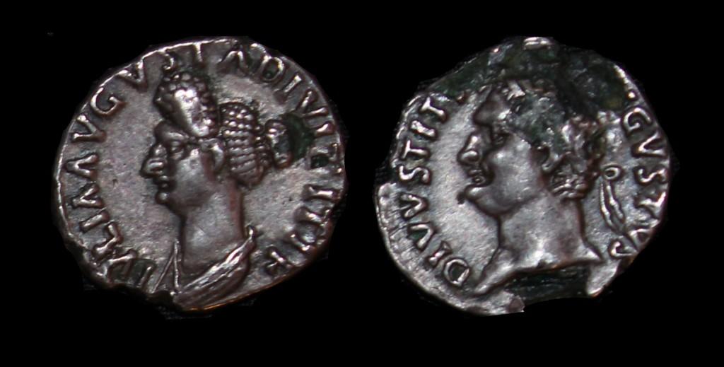 JULIA TITI DIVUS TITUS AR AR Denarius Fourree