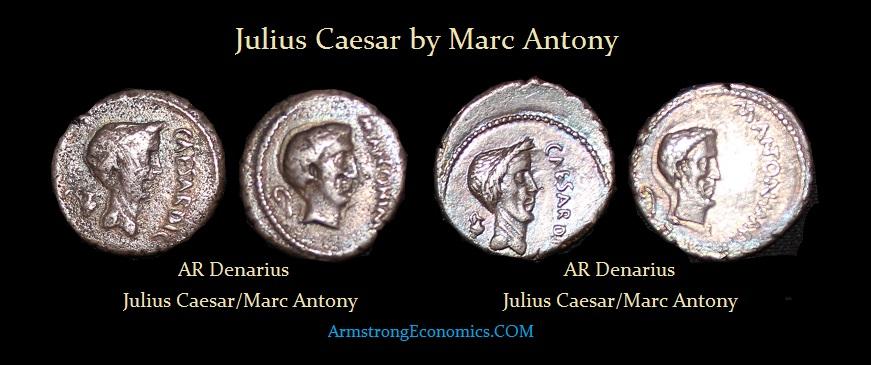 Julius Caesar by Marc Antony AR Denarius