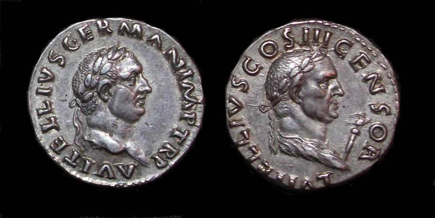 LUCIUS VITELLIUS (Father of Vitellius) AR Denarius - R