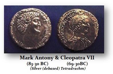Marc Antony-Cleopatra Tetradrachm