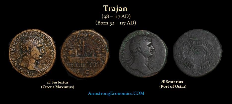 Tr4ajan AE Sesterius Circus Maximus Port of Ostia