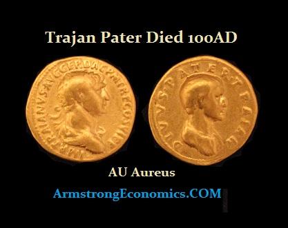 Trajan Pater Aureus - R