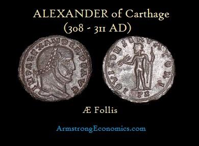 ALEXANDER OF Carthage AE FOLLIS -R