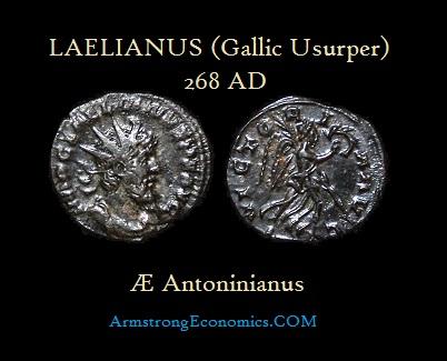 Laelianus AE Antoninianus - R