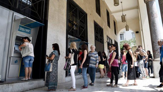 Greek Bank Run 6-27-2015