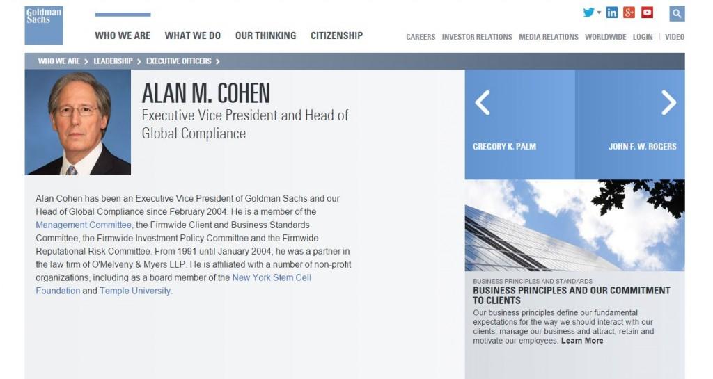 Alan Cohen GS