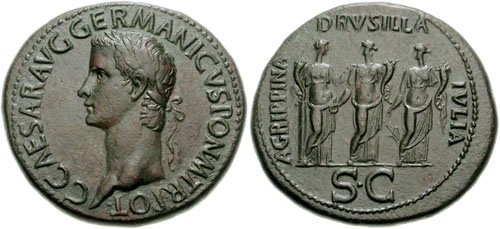 Drusilla_on Sesterius of Caligula