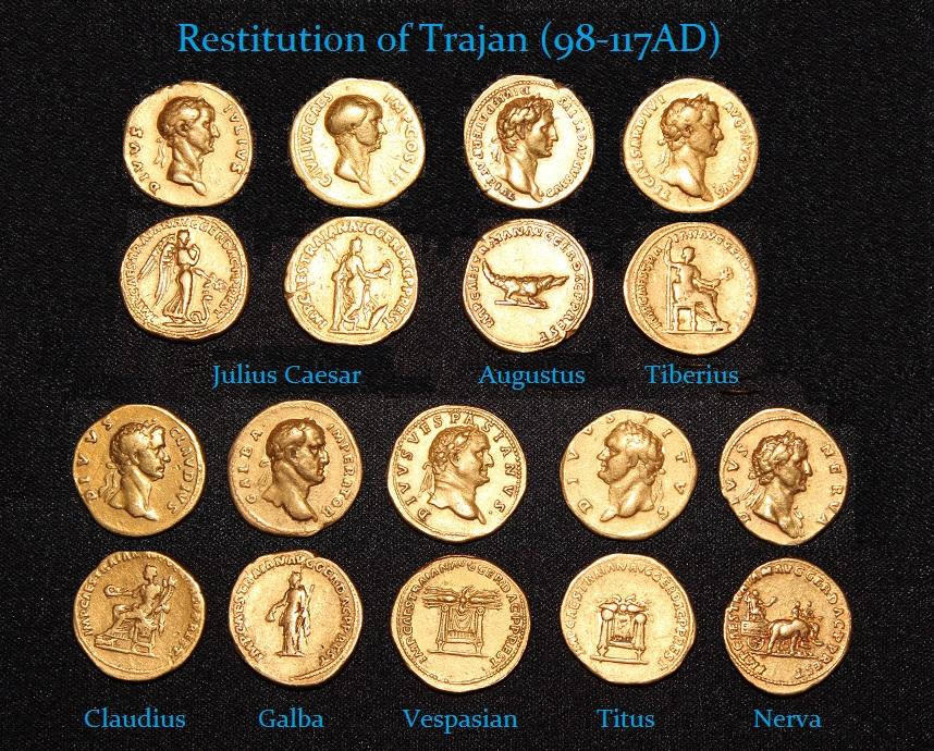 Trajan Restitution Gold Aureus - r