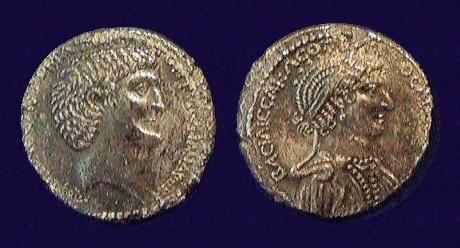 Cleopatra VII Marc Antony Tetradrachm