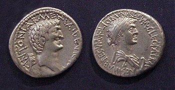 Mark Antony Cleopatra VII AR Denarius