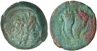 Ptolemy VIII AE Zeus