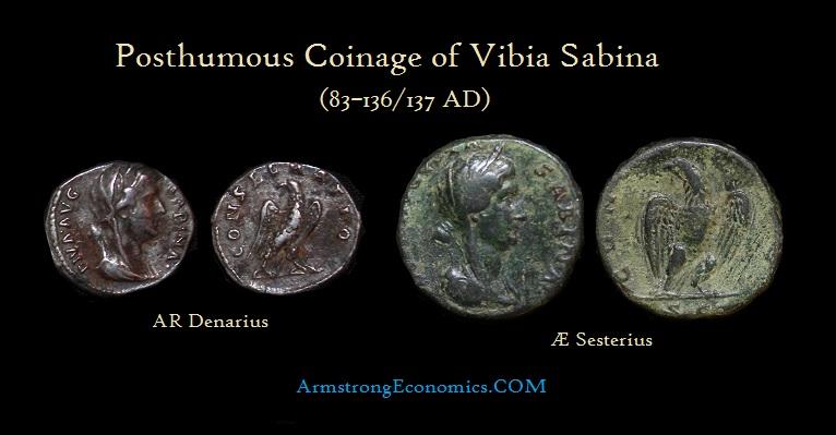 Sabina diva Denarius Sesterius