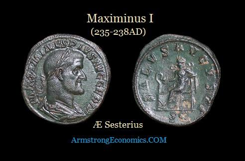 Maximinus I (235-238AD) AE Sesterius-R