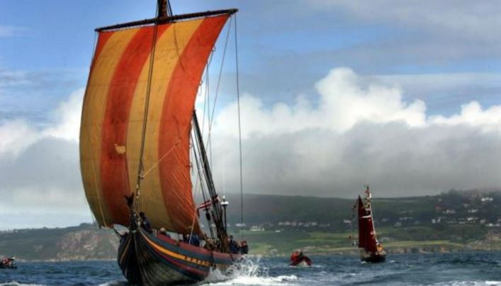 Reconstructed Viking Ship