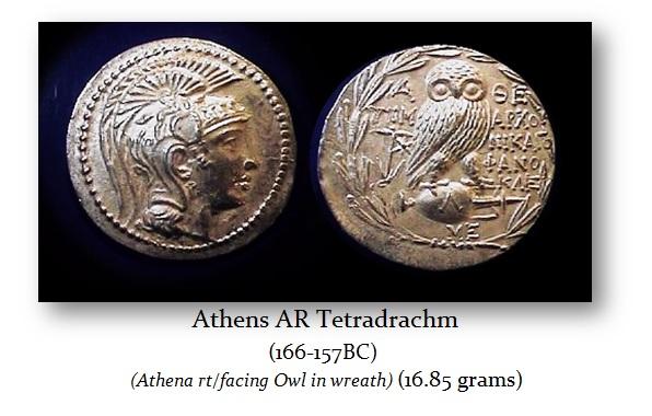 Athens Tetradrams New Style 16.85g 166-156BC