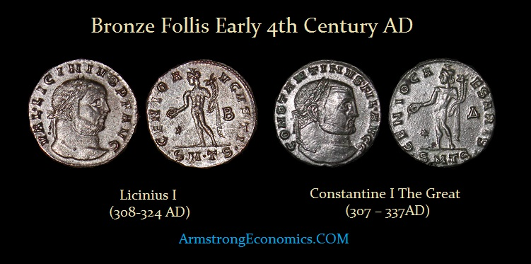 Constantine Licinius Follis - R