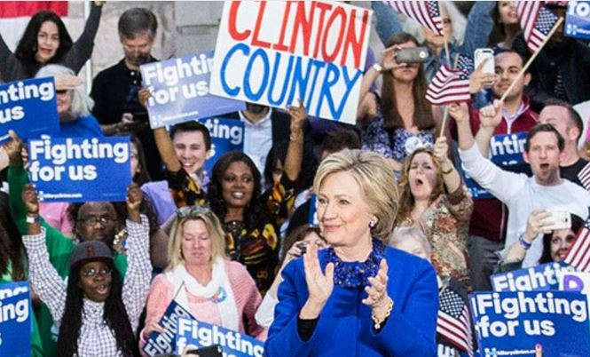 Hillary Fighting for us'