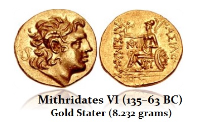 Mithradates VI AU Stater