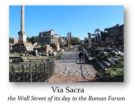 Via Sacra Roman Forum Ancient Wall Street
