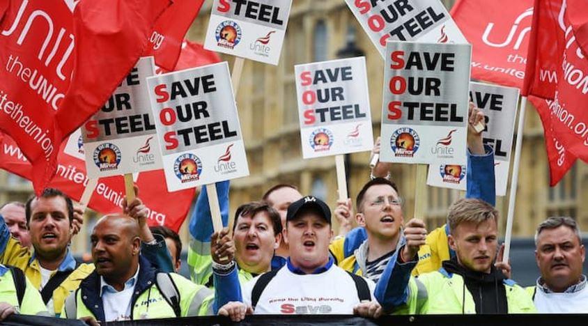 Britian Steel Workers