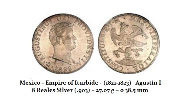 Empire of Iturbide - Real (1821-1823) 8 Reals