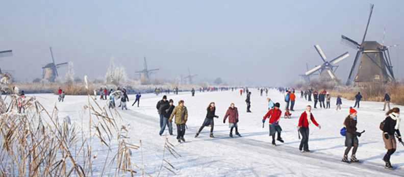 Netherlands Canals Freeze