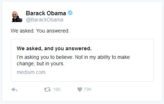 Obama Tweet 2-17-2017