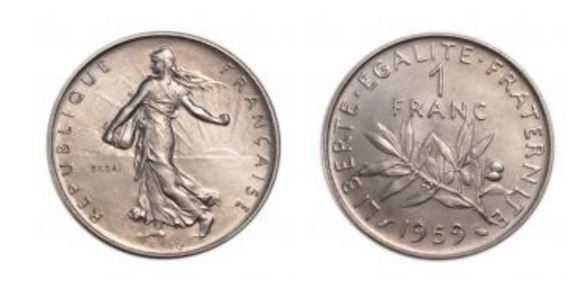 1959 Franc 5th Republic Liberty Walking