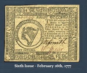 Continental Currency-6th-$8-2-26-1777