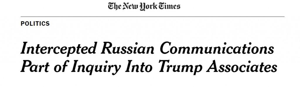 NYT Jan 20 2017 Trump Wiretap Online