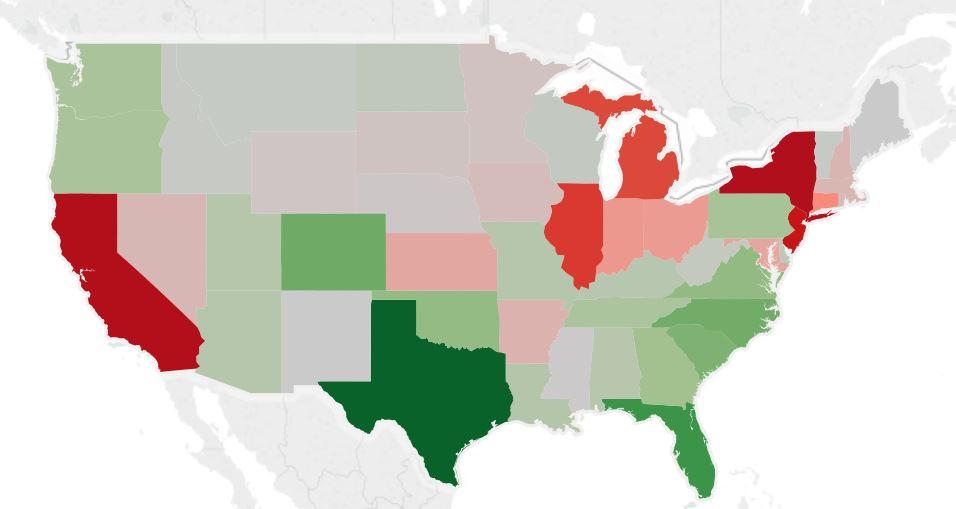 USA Map Migration