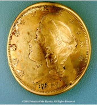 confederate submaribe George Dixon gold coin