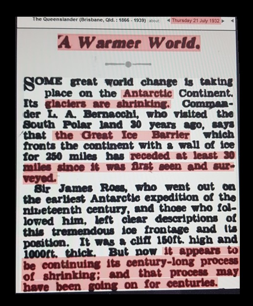 Climate Change Has been a Routine Scare Tactic Since the 1930s | Armstrong Economics
